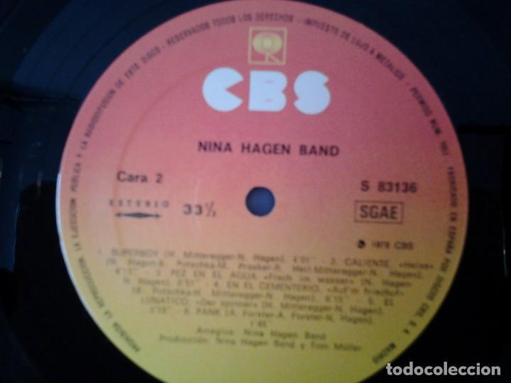 Discos de vinilo: NINA HAGEN BAND -NINA HAGEN BAND- CBS 1978 ED. ESPAÑOLA S 83136 MUY BUENAS CONDICIONES Y MUY POCO US - Foto 2 - 167525020