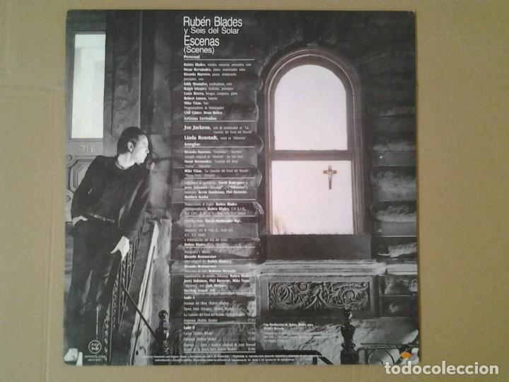 Discos de vinilo: RUBEN BLADES Y SEIS DEL SOLAR -ESCENAS - LP ELEKTRA 1985 ELEKTRA 3.095 EN MUY BUENAS CONDICIONES Y. - Foto 4 - 167525256
