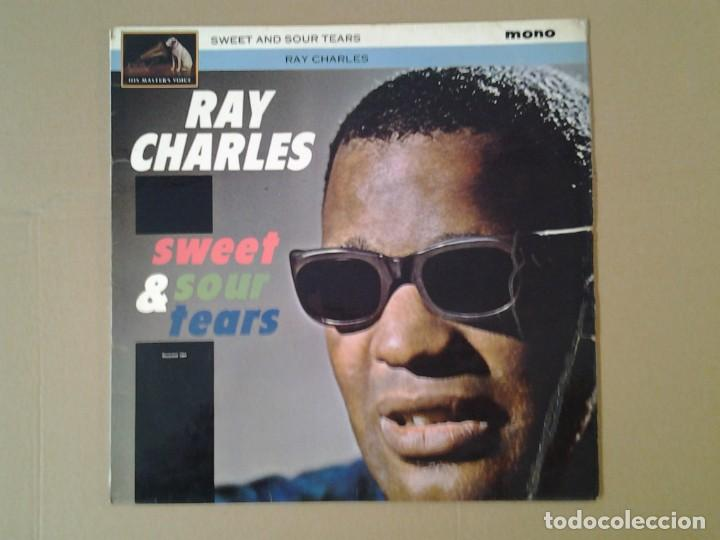 RAY CHARLES -SWEET & SOUR TEARS- LP HMV 1964 CLP 1728 ED. INGLESA BUENAS CONDICIONES. (Música - Discos de Vinilo - EPs - Jazz, Jazz-Rock, Blues y R&B)