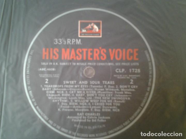 Discos de vinilo: RAY CHARLES -SWEET & SOUR TEARS- LP HMV 1964 CLP 1728 ED. INGLESA BUENAS CONDICIONES. - Foto 2 - 167526200