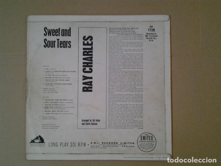 Discos de vinilo: RAY CHARLES -SWEET & SOUR TEARS- LP HMV 1964 CLP 1728 ED. INGLESA BUENAS CONDICIONES. - Foto 4 - 167526200