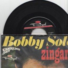 Discos de vinilo: EP BOBBY SOLO +3 LABEL ROYAL IRAN SANREMO 1969 DON BCKY MASSIMO RANIERI . Lote 167534628