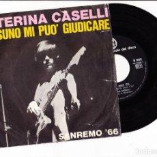 Discos de vinilo: CATERINA CASELLI NESSUNO MI PUO' GIUDICARE CGD SANREMO 66 ITALY COVER RING WEAR. Lote 167537812
