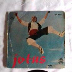 Discos de vinilo: JOTAS - VOL. 1 - CANTA ENCARNITA RODRÍGUEZ SINGLE. Lote 167546280