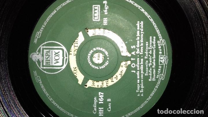 Discos de vinilo: JOTAS - VOL. 1 - CANTA ENCARNITA RODRÍGUEZ single - Foto 6 - 167546280
