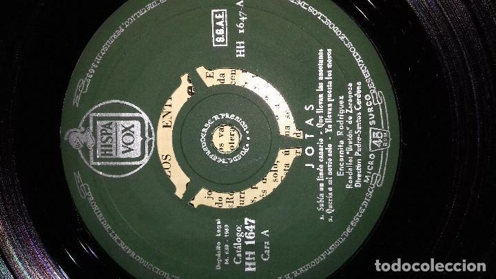 Discos de vinilo: JOTAS - VOL. 1 - CANTA ENCARNITA RODRÍGUEZ single - Foto 7 - 167546280