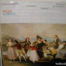 Discos de vinilo: GRANADOS , FALLA, ALBENIZ. Lote 167556576