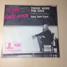 Discos de vinilo: BEATLES - MARY HOPKIN SINGLE FRANCÉS CON SELLO PROMOCIONAL ESPAÑOL. Lote 167557373