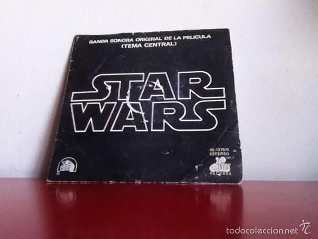 BSO. STAR WARS. ( TEMA CENTRAL) SINGLE( 2 TEMAS ). 1977 (Música - Discos - Singles Vinilo - Bandas Sonoras y Actores)