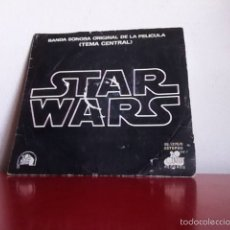 Discos de vinilo: BSO. STAR WARS. ( TEMA CENTRAL) SINGLE( 2 TEMAS ). 1977. Lote 167567768
