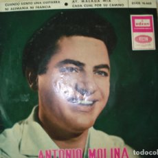 Discos de vinilo: EP , ANTONIO MOLINA, 1965. Lote 167567796