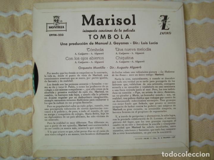 Discos de vinilo: EP MARISOL TOMBOLA , 1962 - Foto 2 - 167567956