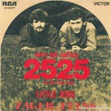 Discos de vinilo: ZAGER & EVANS – EN EL AÑO 2525 - SINGLE SPAIN 1969 . Lote 167569728