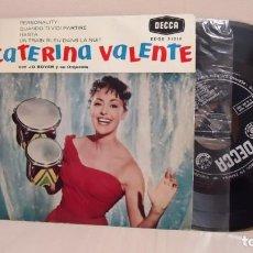 Discos de vinilo: CATERINA VALENTE -PERSONALITY-DECCA-EP DE 4 CANCIONES -AÑO 1960- . Lote 167571428