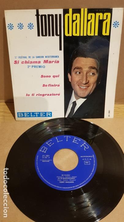 TONY DALLARA / SI CHIAMA MARÍA / EP - BELTER-1965 / MBC. ***/*** (Música - Discos de Vinilo - EPs - Otros Festivales de la Canción)