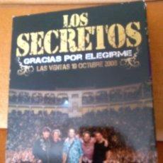 Discos de vinilo: GRACIAS POR ELEGIRME LOS SECRETOS 2 CD + 2 DVD. Lote 167582212