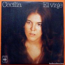 Discos de vinilo: CECILIA: EL VIAJE / LLUVIA - SINGLE - CBS - 1976 - EXCELENTE. Lote 167583696