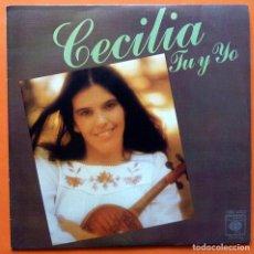 Discos de vinilo: CECILIA: TU Y YO / UNA GUERRA - SINGLE - CBS - 1976 - MUY BUENO PLUS. Lote 167584172