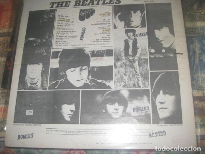 Discos de vinilo: THE BEATLES - Rubber Soul - rare (EMI ODEON-1966 ) OG VENEZUELA carton duro - Foto 2 - 167592324