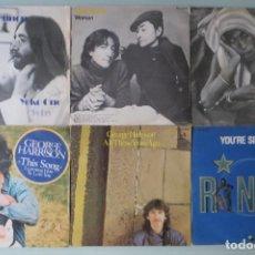 Discos de vinilo: THE BEATLES - LOTE 6 SINGLES (2 LENNON - 3 HARRISON - 1 RINGO) (EDICION ESPAÑOLA). Lote 167622460