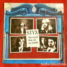 Discos de vinilo: STYX (SINGLE 1981) TOO MUCH TIME ON MY HANDS - QUEEN OF SPADES. Lote 167630336