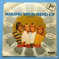 Dischi in vinile: BUCKS FIZZ (SINGLE EUROVISION 1981) MAKING YOUR MIND UP - 1º PREMIO REINO UNIDO. Lote 167630940