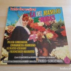 Discos de vinilo: PABLO SOROZABAL - LA DEL MANOJO DE ROSAS - CANTORES DE MADRID - LP - VINILO - HISPAVOX - 1962. Lote 167632904