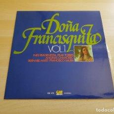 Discos de vinilo: DOÑA FRANCISQUITA VOL.1 - LP - VINILO - GRAMUSIC - 1976. Lote 167633088