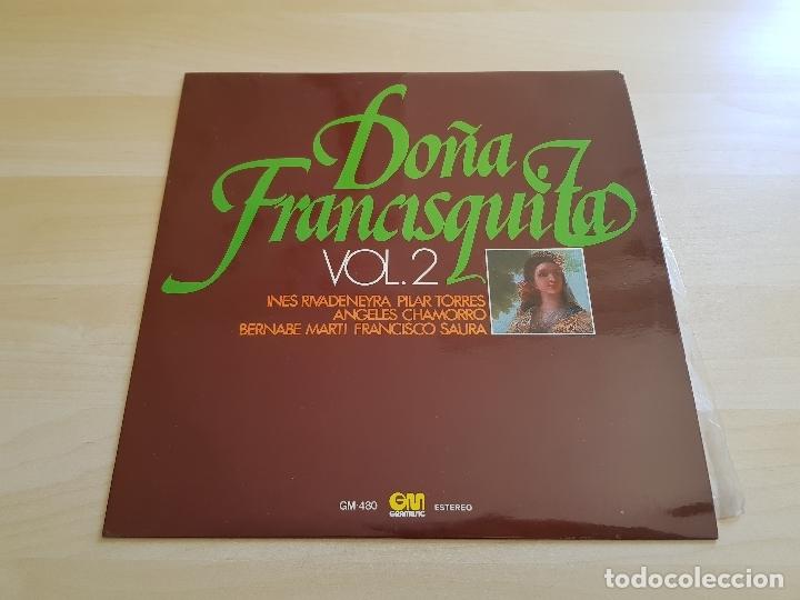 DOÑA FRANCISQUITA VOL.2 - LP - VINILO - GRAMUSIC - 1976 (Música - Discos - LP Vinilo - Clásica, Ópera, Zarzuela y Marchas)