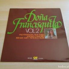 Discos de vinilo: DOÑA FRANCISQUITA VOL.2 - LP - VINILO - GRAMUSIC - 1976. Lote 167633196