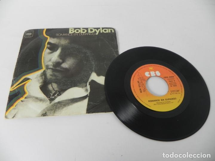 Discos de vinilo: SINGLE BOB DYLAN (ROMANCE DURANGO) CBS 1977 - Foto 2 - 167650432