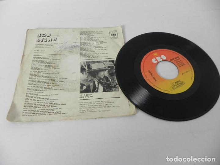 Discos de vinilo: SINGLE BOB DYLAN (ROMANCE DURANGO) CBS 1977 - Foto 4 - 167650432