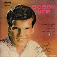 Discos de vinilo: BOBBY VEE TAKE GOOD CARE OF MY BABY EP 1961. Lote 167657060