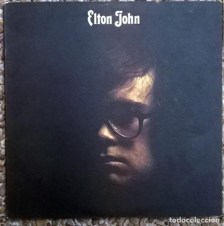 ELTON JOHN. ELTON JOHN. DJM (DJLPS 406), UK 1970 LP + DOBLE CARPETA TEXTURADA (Música - Discos de Vinilo - Maxi Singles - Pop - Rock Extranjero de los 70)