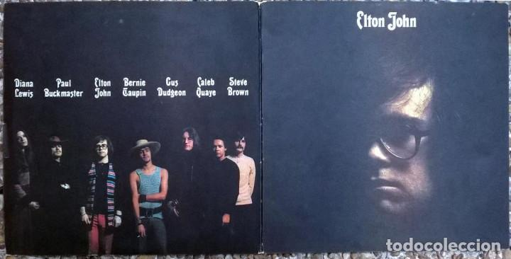 Discos de vinilo: Elton John. Elton John. DJM (DJLPS 406), UK 1970 LP + doble carpeta texturada - Foto 3 - 167659056