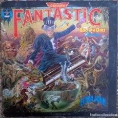 Discos de vinilo: ELTON JOHN. CAPTAIN FANTASTIC AND THE BROWN DIRT COWBOY. DJM (DJLPX 1), UK 1975 LP + DOBLE CARPETA. Lote 167659820