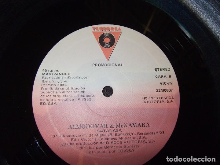 Discos de vinilo: ALMODOVAR & McNAMARA / Satanasa / Voy a ser mama / 12* MAXI - RARO!!! PROMOCIONAL 1983 - Foto 3 - 167666388