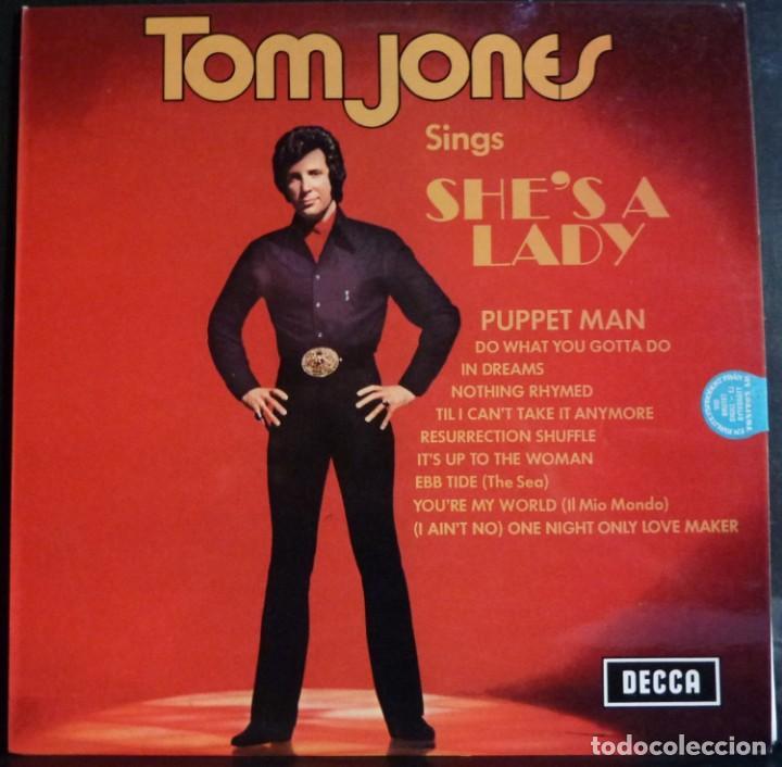 TOM JONES // SINGS SHE`S LADY // 1971 // MADE IN ENGLAND // (VG+VG+).LP (Música - Discos - LP Vinilo - Cantautores Extranjeros)