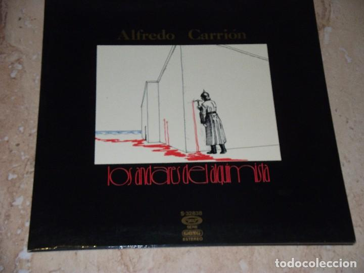 Discos de vinilo: ALFREDO CARRION Los andares del alquimista LP 1976 Gong Movieplay-SPAIN-GATEFOL COVER-EXCELENTE - Foto 1 - 167677352