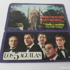 Discos de vinilo: SINGLE LOS 5 AGUILAS (WINCHESTER CATHEDRAL / TODO CAMBIO 'NO MILK TODAY' SESION-1967. Lote 167677908