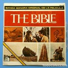 Discos de vinilo: THE BIBLE - LA BIBLIA (EP 1966) BSO ORIGINAL FILM -PETER ANGELIS ORQUESTA Y COROS - TOSHIRO MAYUZUMI. Lote 167706392