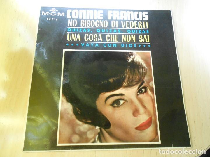 CONNIE FRANCIS, EP, NO BISOGNO DI VEDERTI + 3, AÑO 1965 (Música - Discos de Vinilo - EPs - Pop - Rock Extranjero de los 50 y 60)
