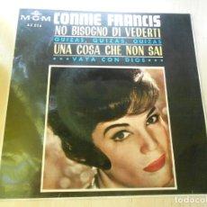 Discos de vinilo: CONNIE FRANCIS, EP, NO BISOGNO DI VEDERTI + 3, AÑO 1965. Lote 167707024