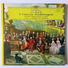 Discos de vinilo: LP DOBLE BACH ORCHESTRE PHILHARMONIQUE DE BERLIN - HERBERT VON KARAJAN ?- 6 CONCERTOS BRANDEBOURGOIS. Lote 167714512
