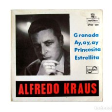 Discos de vinilo: ALFREDO KRAUS – GRANADA - AY AY AY – PRINCESITA - ESTRELLITA. Lote 167717000