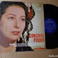 Discos de vinilo: 1 LP DE ** CONCHITA PIQUER . PUENTE DE COPLAS ** AÑO 1974 COLUMBIA . Lote 167717656