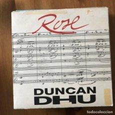 Discos de vinilo: DUNCAN DHU - ROSE - SINGLE GASA 1992. Lote 167722420