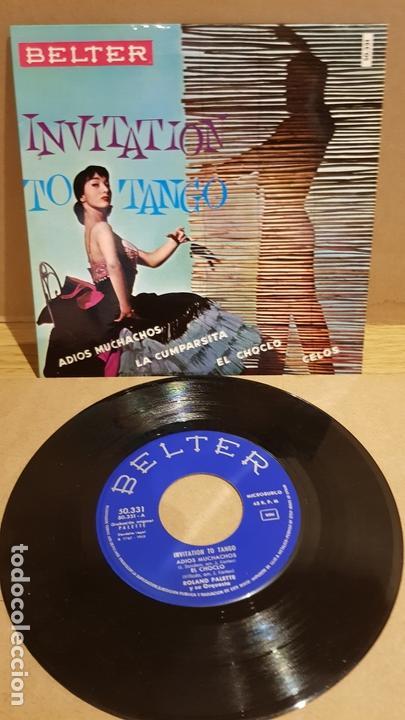 ROLAND PALETTE Y SU ORQUESTA / INVITATION TO TANGO / EP - BELTER-.1960 / MBC. ***/*** (Música - Discos de Vinilo - EPs - Orquestas)