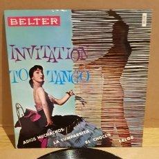 Discos de vinilo: ROLAND PALETTE Y SU ORQUESTA / INVITATION TO TANGO / EP - BELTER-.1960 / MBC. ***/***. Lote 167726412