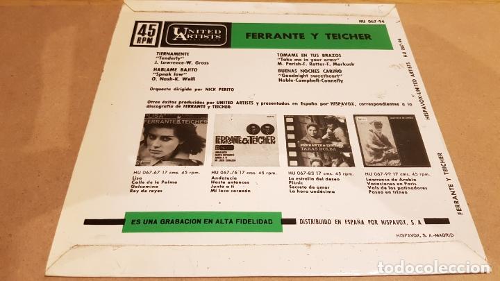 Discos de vinilo: FERRANTE Y TEICHER / TIERNAMENTE / EP - UNITED ARTISTS-1963 / MBC. ***/*** - Foto 2 - 167726920